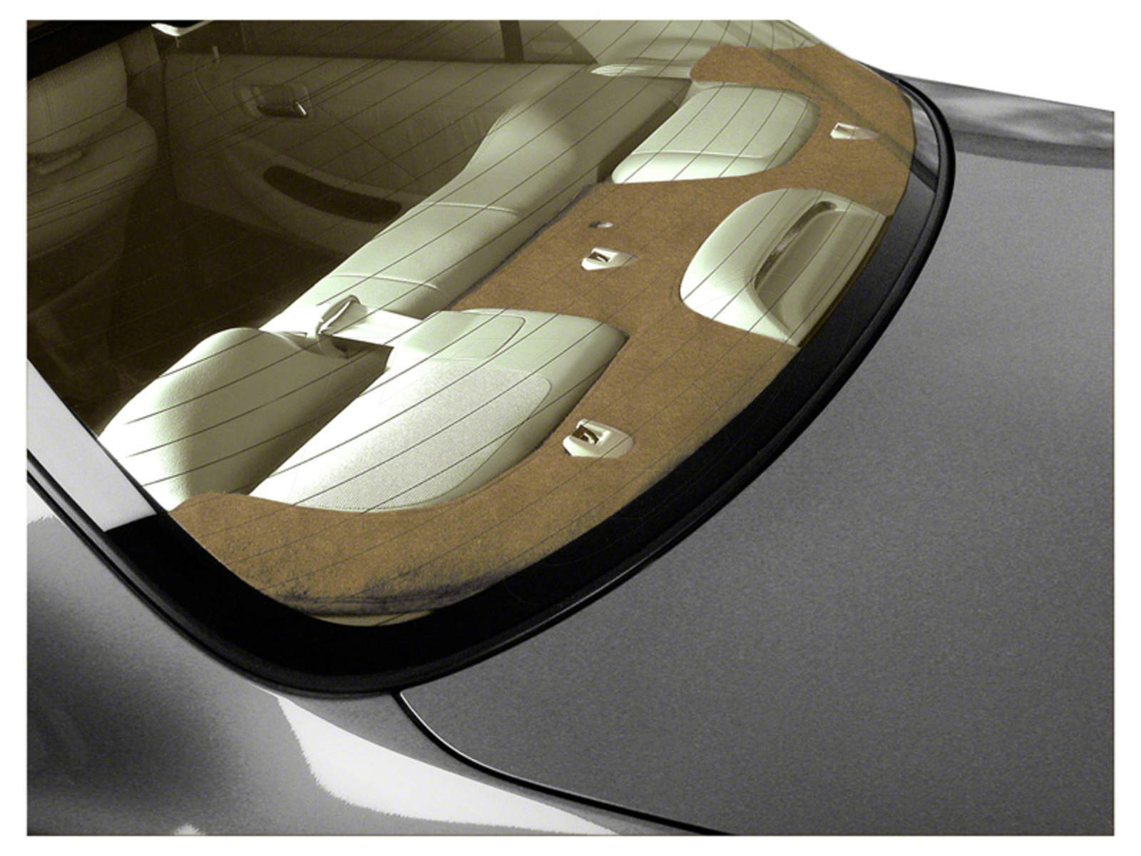 CUSTOM TAILORED REAR DECK COVERS SUEDE BEIGE, Oldsmobile